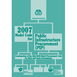 2007 Model Code for Public Infrastructure Procurement