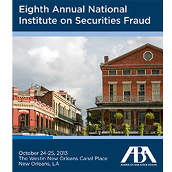 Securities Fraud 2013
