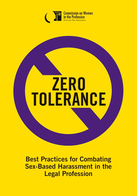 Zero tolerance best practices for combating sex based harassment in zero tolerance best practices for combating sex based harassment in the legal profession ebook fandeluxe Images