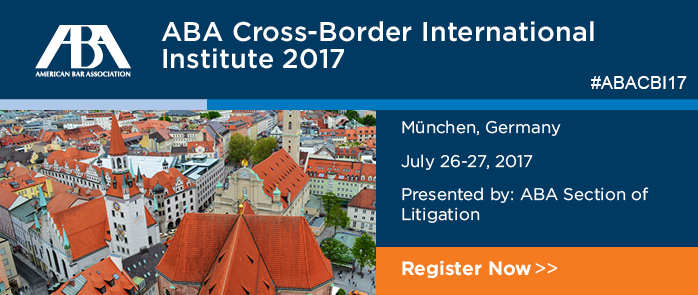 ABA Cross-Border Discovery Institute: The Interplay between E.U. Data Protection and U.S. Discovery