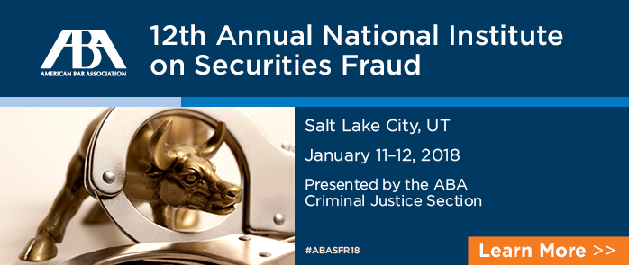 12th Annual National Institute on Securities Fraud