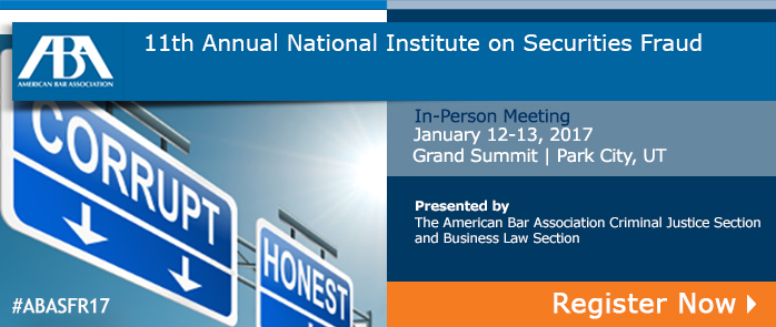11th Annual Securities Fraud National Institute
