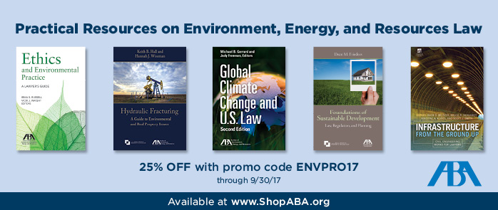 SAVE 25% on Environment, Energy, and Resources Law Books!