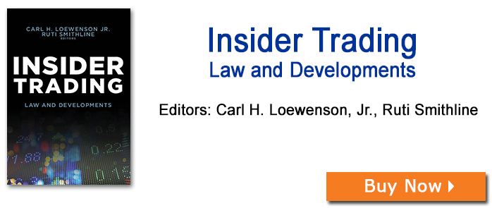 Insider Trading: Law and Developments